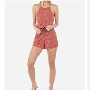 NWT Express Tie-Front Flounce Romper✨